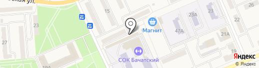 Магазин фруктов и овощей на карте Бачатского