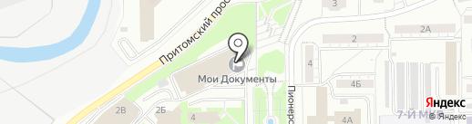 Притомский на карте Кемерово