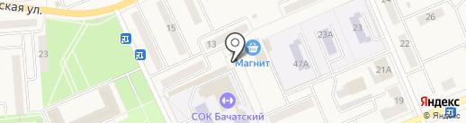 Сеть аптек на карте Бачатского
