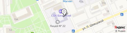 Лицей №22 г. Белово на карте Бачатского