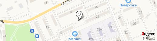 Киоск по продаже хлебобулочных изделий на карте Бачатского
