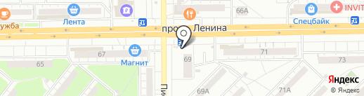 Киоск по продаже фруктов и овощей на карте Кемерово