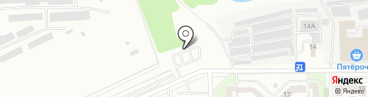 Автостоянка на карте Кемерово