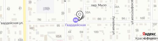 Автосервис на Гвардейской на карте Кемерово
