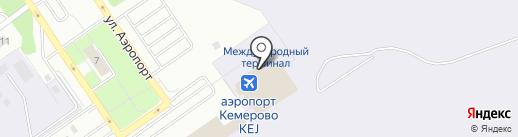 S7 Airlines на карте Кемерово