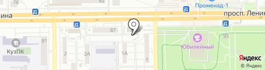 Радуга на карте Кемерово