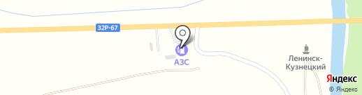 АЗС Двиг на карте Ленинска-Кузнецкого