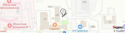 Кафе на Заречной на карте Кемерово