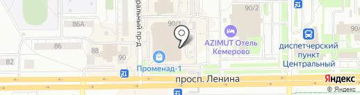 Русский сувенир на карте Кемерово
