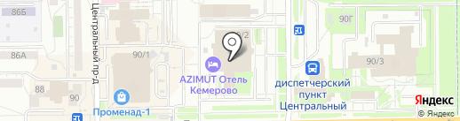Алькасар Кемерово на карте Кемерово