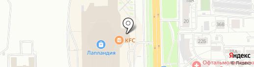 Кафе восточной кухни на карте Кемерово