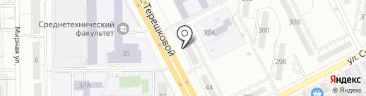 Палитра на карте Кемерово
