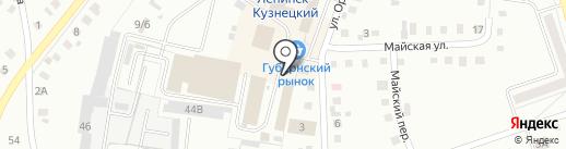 Киоск по продаже хлебобулочных изделий на карте Ленинска-Кузнецкого
