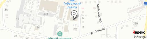 Набат на карте Ленинска-Кузнецкого