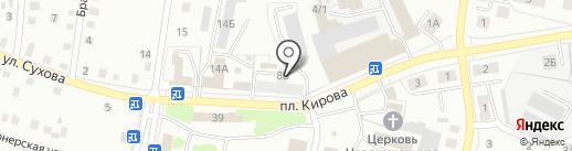 Идеал на карте Ленинска-Кузнецкого