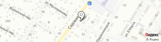 Продуктовый магазин на Садовой на карте Ленинска-Кузнецкого