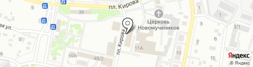 Забота на карте Ленинска-Кузнецкого
