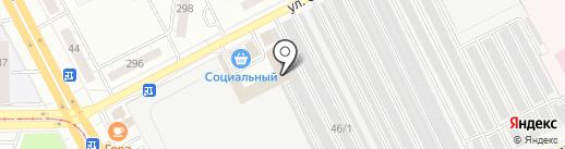 Магазин хлебобулочных изделий на карте Кемерово