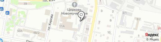 Восток на карте Ленинска-Кузнецкого