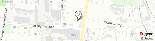 Метелица на карте Ленинска-Кузнецкого