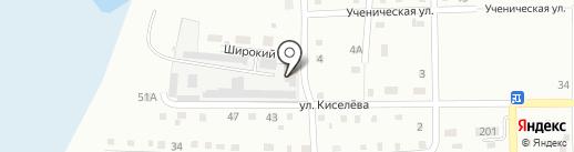 Продуктовый магазин на Широкой на карте Ленинска-Кузнецкого