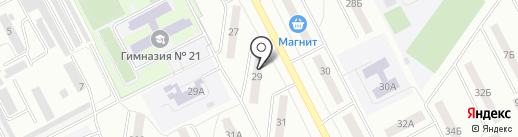 Магазин канцелярских товаров на карте Кемерово