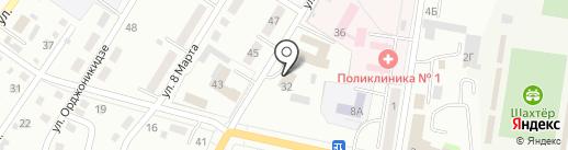 Аметист на карте Ленинска-Кузнецкого