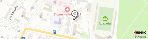 Форштат на карте Ленинска-Кузнецкого