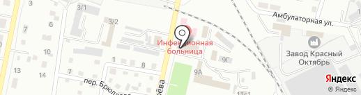 Морская звезда на карте Ленинска-Кузнецкого