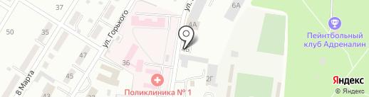 Бумер на карте Ленинска-Кузнецкого