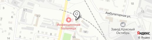Служба заказа легкового пассажирского транспорта на карте Ленинска-Кузнецкого