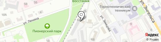 Промышленная безопасность, АНО на карте Ленинска-Кузнецкого