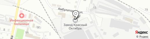 Завод Красный Октябрь на карте Ленинска-Кузнецкого