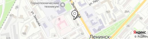 Тенториум на карте Ленинска-Кузнецкого