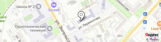 ЛКГТТ на карте Ленинска-Кузнецкого