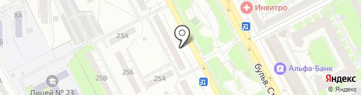 Магазин текстиля на карте Кемерово