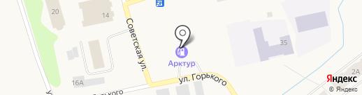 Арктур на карте Дудинки