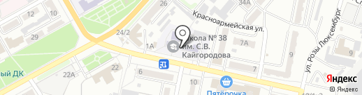Средняя общеобразовательная школа №38 на карте Ленинска-Кузнецкого