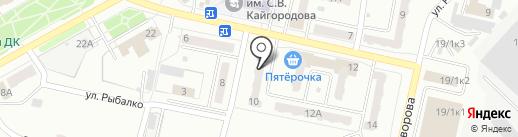 Хоттей на карте Ленинска-Кузнецкого