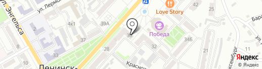 Розовая пантера на карте Ленинска-Кузнецкого