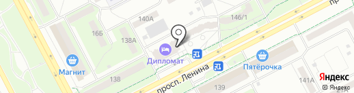 Дипломат на карте Кемерово