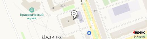 Городской дом культуры на карте Дудинки