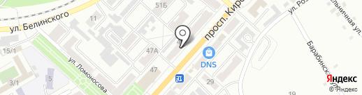 Бочковое на карте Ленинска-Кузнецкого