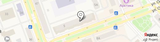 Стрекоза на карте Дудинки