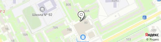 Сеть мастерских по ремонту обуви на карте Кемерово