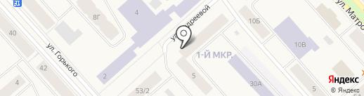 Лама на карте Дудинки
