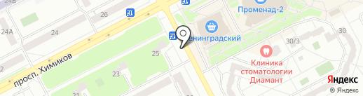 Киоск по продаже мороженого на карте Кемерово