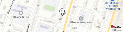 Адвокатский кабинет Панфиловой В.П. на карте Ленинска-Кузнецкого