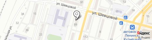 Кружка на карте Ленинска-Кузнецкого