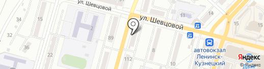 Экономька на карте Ленинска-Кузнецкого